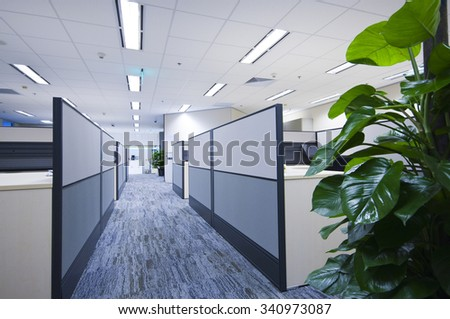 Contracted office work place - stock photo