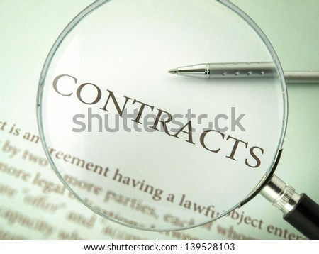 Contracts - stock photo
