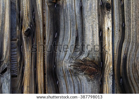 contrasted old wood texture - stock photo