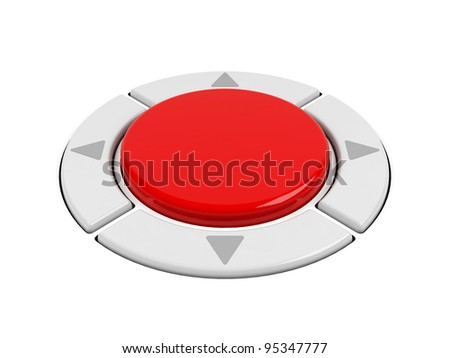 Control buttons on a white. - stock photo