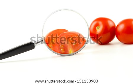 Control of vegetables - stock photo