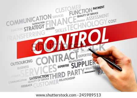CONTROL word cloud, business concept - stock photo