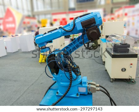 Controler of robotic hand - stock photo