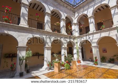 Convent Court, Santa Maria del Henar, Segovia, Spain - stock photo