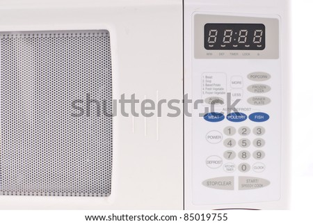 Conventional Microwave Key Pad - stock photo
