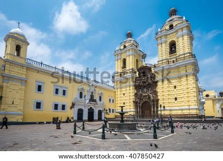 Convento de San Francisco or Saint Francis Monastery, Lima, Peru - stock photo