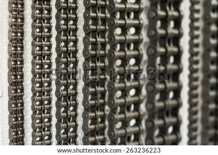 Conveyor Chains - stock photo