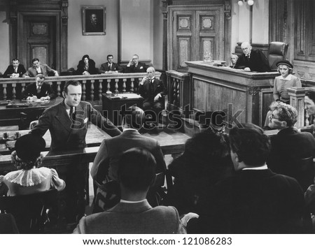 Convincing the jury - stock photo