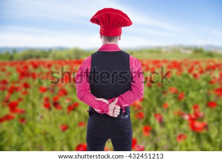Cook man with cap