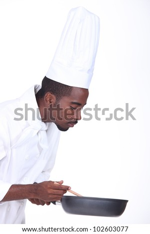Cook on white background - stock photo