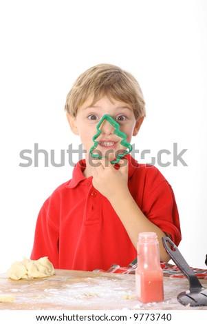 cookie cutter boy - stock photo