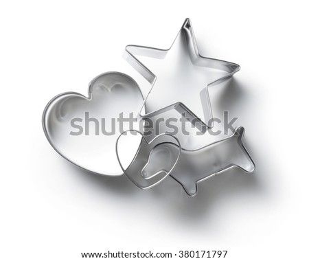 cookie cutter isolated on white background. - stock photo