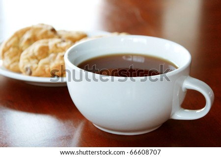 Cookies and hot drink - stock photo