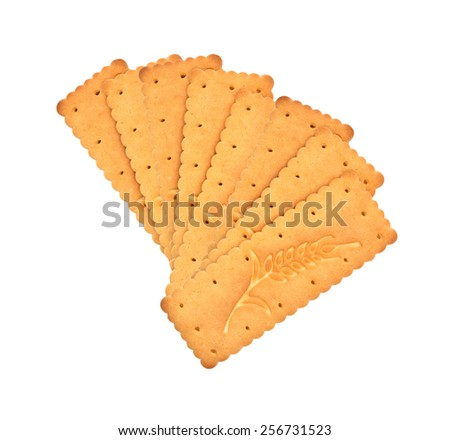 Cookies isolated on a white background - stock photo