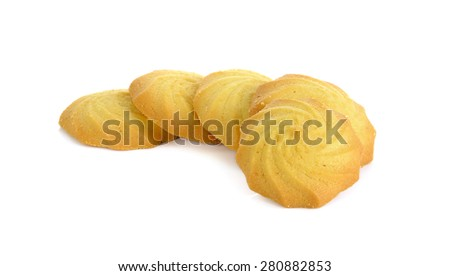 Cookies isolated on the white background. - stock photo