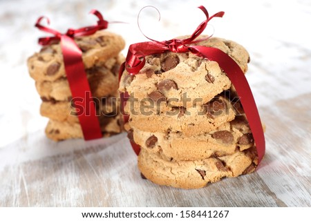 cookies on white  - stock photo