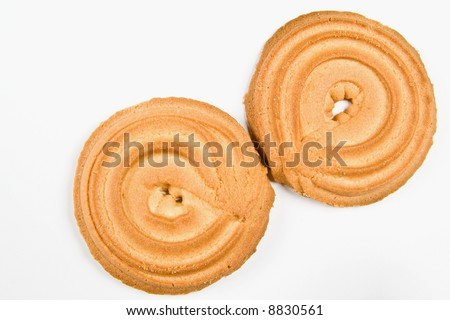 Cookies ring isolated on white - stock photo