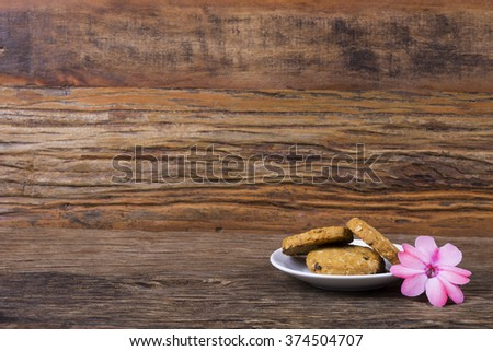 Cookies with grains: oatmeal, cereal, raisins/ Healthy Cookies/ Cookies with grains: oatmeal, cereal, raisins - stock photo