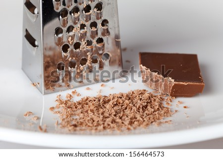 Cooking by making chocolate crumbs - stock photo