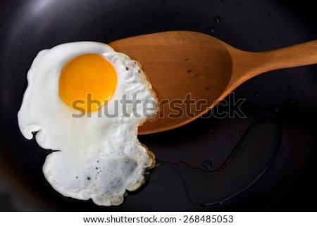 Cooking Fried Egg - stock photo