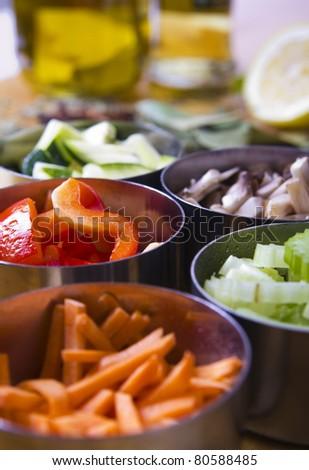 Cooking Ingredients. Vegetables - stock photo
