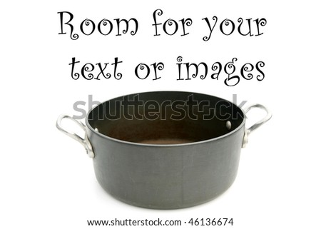 cooking pot isolated on white with room for your text or images - stock photo