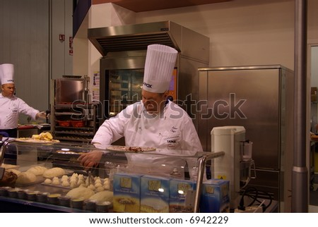 Cooking time at the fair - stock photo