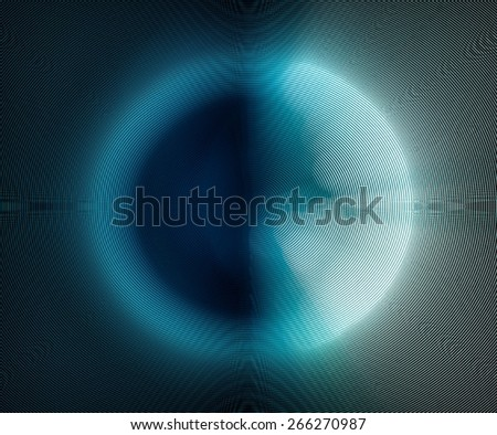 cool abstract blue moon, used circular scattering effect - stock photo