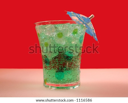 Cool and green tropical drink - stock photo