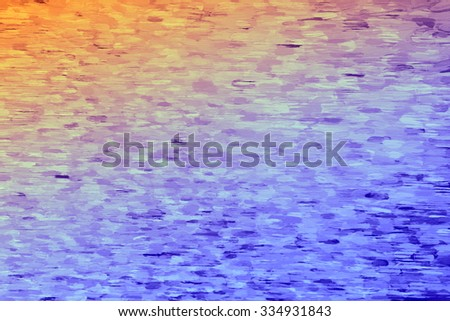 cool and hot colors  - illustration based on own photo image - stock photo