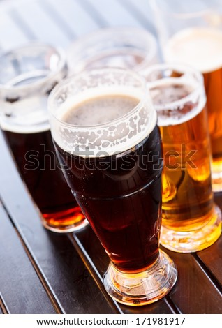 Cool beer mugs - stock photo
