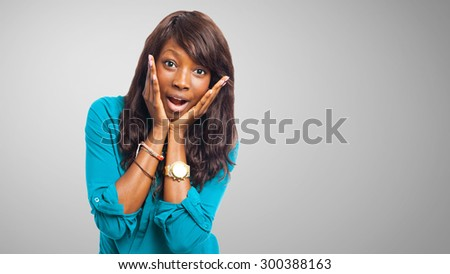 cool black woman smiling - stock photo