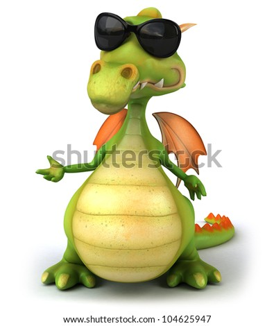 Cool dragon - stock photo