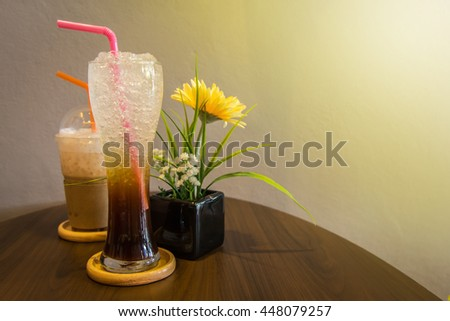 Cool drinks Reduce the heat and thirst of Thailand. with light orange. - stock photo