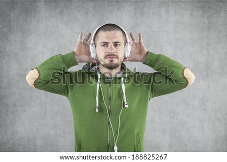 cool fun with this music - stock photo