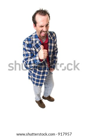 Cool guy, giving a big wink. - stock photo
