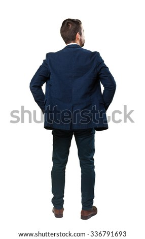 cool man backward - stock photo