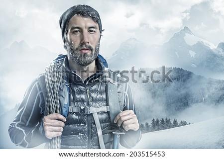 Cool Mountaineer - stock photo