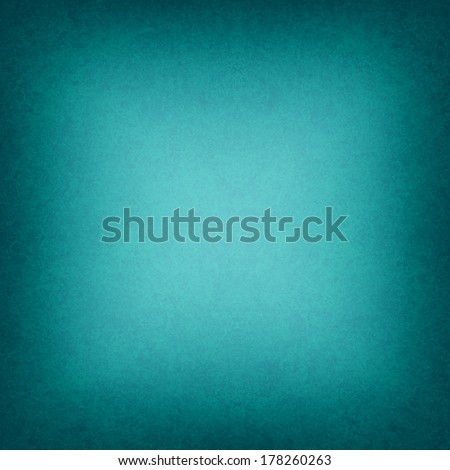cool teal blue background black border or dark frame, smooth bright center texture into gradient square black vignette edge, abstract blue green paper for brochure or website backdrop color image - stock photo