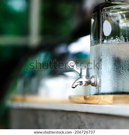 Cooler Faucet , Faucet cool water , Mini Faucet - stock photo