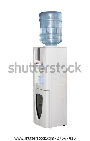 cooler under the white background - stock photo