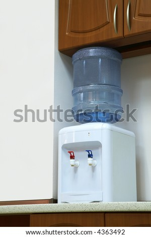 cooler with potable water at modern office - stock photo