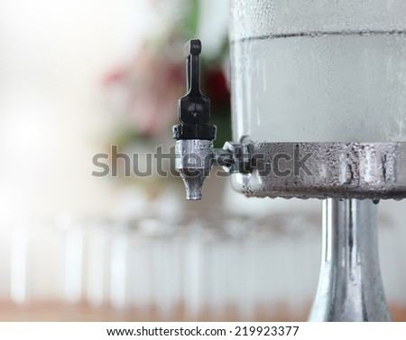 cooler with water container - stock photo