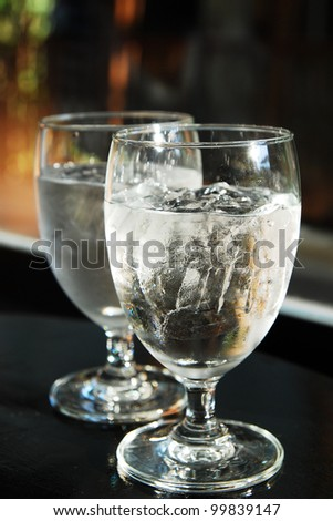 Cooling drinking water - stock photo