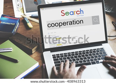 Cooperation Unity Together Teamwork Partnership Concept - stock photo