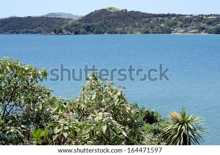 Coopers beach, a famous travel destination in northland New Zealand. - stock photo