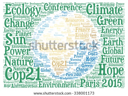 COP21 in Paris 2015 - stock photo