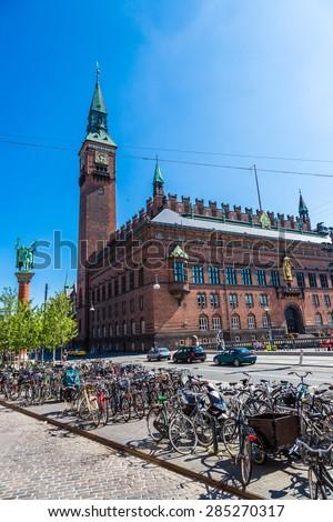 Copenhagen City Hall in a summer day in Denmark - stock photo