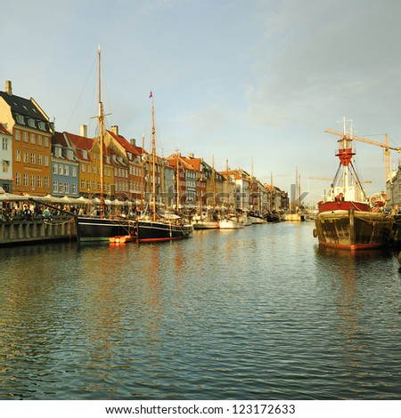 Copenhagen, Denmark. Nyhavn - stock photo