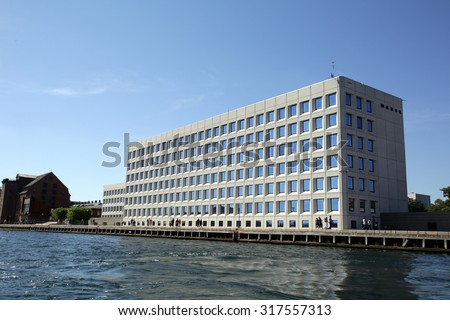 COPENHAGEN, DENMARK - SATURDAY, AUGUST 22, 2015: The headquarters of A.P. Moller-Maersk Group. Maersk is the world's largest shipping lines.  - stock photo